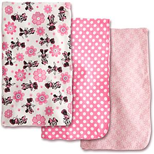 Minnie Mouse Receiving Blankets for Baby - 3 Pack