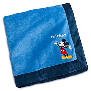 Mickey Mouse Plush Blanket for Baby - Personalizable