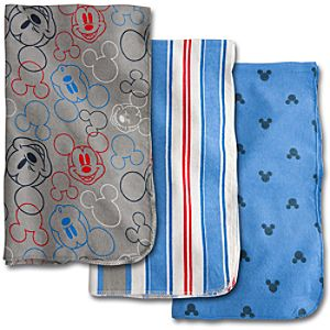 Mickey Mouse Receiving Blankets for Baby - 3 Pack
