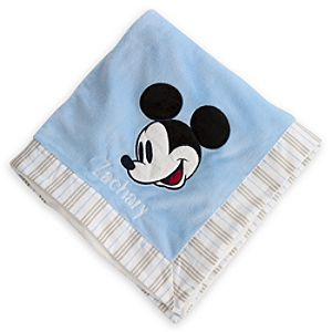 Mickey Mouse Plush Nursery Blanket - Personalizable