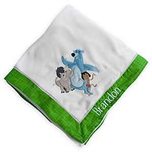 The Jungle Book Plush Nursery Blanket - Personalizable