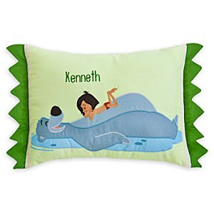 Mowgli and Baloo Pillow for Baby - The Jungle Book - Personalizable