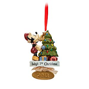 Mickey Mouse 2013 Babys 1st Christmas Ornament - Limited Edition - Personalizable