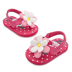 Minnie Mouse Flower Sandals for Baby