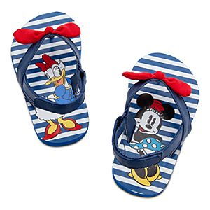 Minnie Mouse and Daisy Duck Flip Flops for Baby