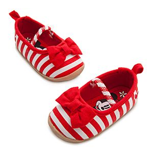 Minnie Mouse Striped Shoes for Baby - Red