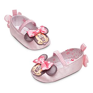 Minnie Mouse Satin Shoes for Baby