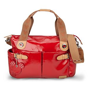 Mickey Mouse Diaper Bag by Storksak - Patent Red