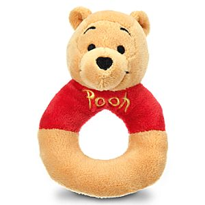 Winnie the Pooh Plush Rattle for Baby