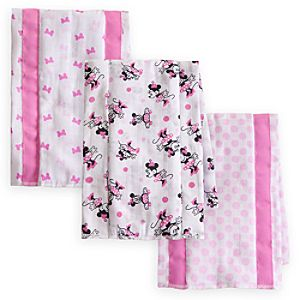 Minnie Mouse Burping Cloths Set for Baby