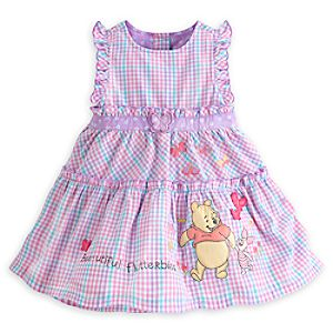 Winnie the Pooh and Piglet Woven Dress for Baby