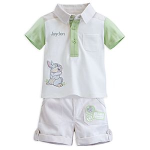 Thumper Woven Shirt and Short Set for Baby - Personalizable