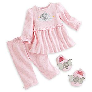 Dumbo Sleep Set with Slippers for Baby - Pink