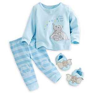 Dumbo Sleep Set with Slippers for Baby - Blue