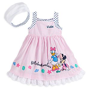 Minnie Mouse and Daisy Duck Woven Dress for Baby - Personalizable