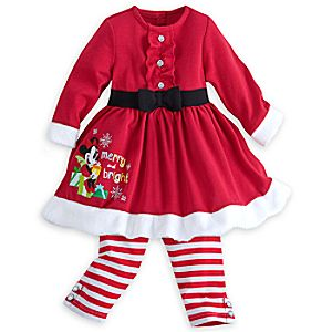 Minnie Mouse Holiday Knit Dress Set for Baby