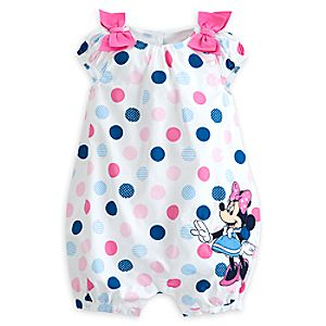 Minnie Mouse Woven Romper for Baby