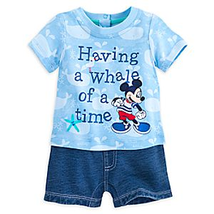 Mickey Mouse Knit Romper for Baby