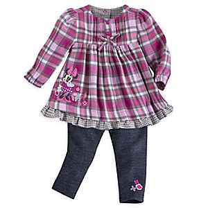 Minnie Mouse Woven Dress and Pants Set for Baby