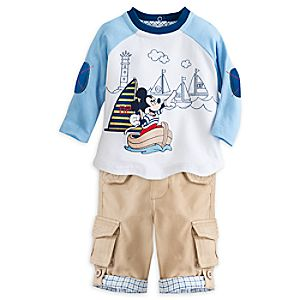 Mickey Mouse Woven Top and Pants Set for Baby