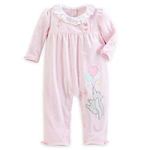 Dumbo Velour Romper for Baby - Pink