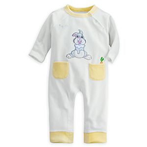 Thumper Velour Romper for Baby - Personalizable