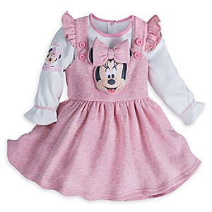 Minnie Mouse Layette Pinafore Set for Baby