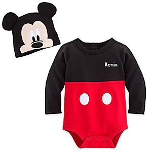 Mickey Mouse Bodysuit Costume Set for Baby - Personalizable
