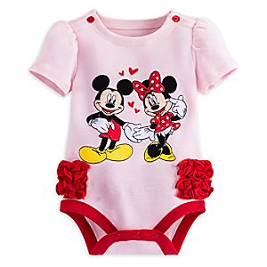 Mickey and Minnie Mouse Disney Cuddly Bodysuit for Baby