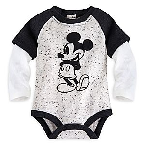 Mickey Mouse Vintage Double-Up Disney Cuddly Bodysuit for Baby