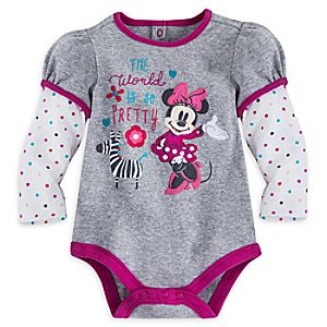 Minnie Mouse Double-Up Disney Cuddly Bodysuit for Baby