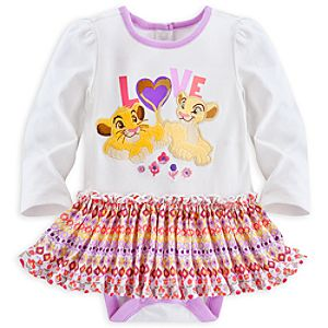Nala and Simba Disney Cuddly Bodysuit with Skirt for Baby