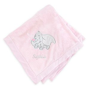 Dumbo Blanket for Baby - Pink - Personalizable