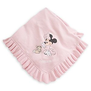 Minnie Mouse Blanket for Baby - Personalizable