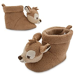 Bambi Plush Slippers for Baby