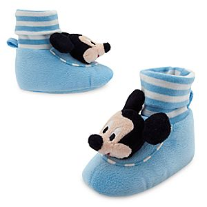 Mickey Mouse Plush Slippers for Baby
