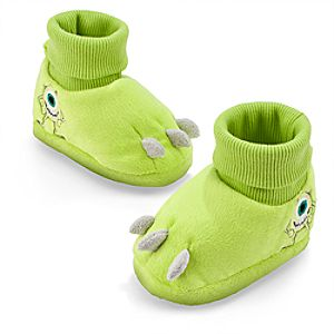 Mike Wazowski Plush Costume Slippers for Baby