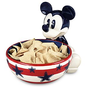 Red, White and Mickey Mouse Chip Bowl