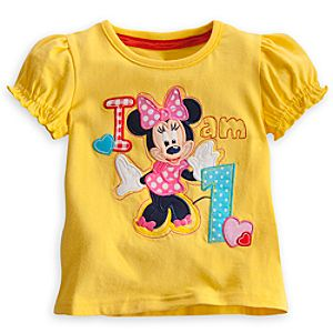 Minnie Mouse I Am 1 Birthday Tee for Girls