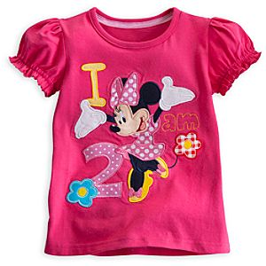 Minnie Mouse I Am 2 Birthday Tee for Girls