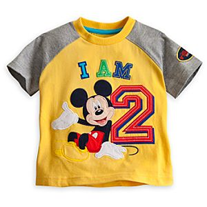 Mickey Mouse I Am 2 Birthday Tee for Boys