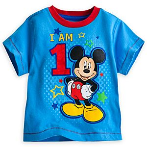 Mickey Mouse I Am 1 Birthday Tee for Boys
