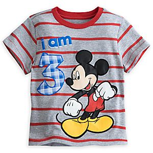 Mickey Mouse I Am 3 Birthday Tee for Boys