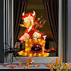 Halloween Donald Duck Light-Up Window Décor