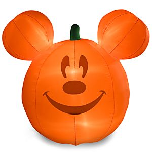 Light-Up Pumpkin Mickey Mouse Inflatable Lawn Décor