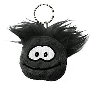 Club Penguin Black Puffle Keychain