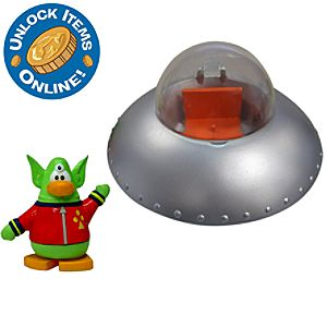 Club Penguin Spaceship Vehicle with Space Alien