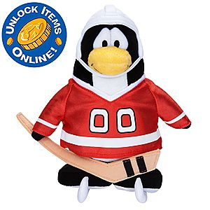 Club Penguin 6 1/2 Limited Edition Penguin Plush - Hockey Player