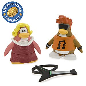 Club Penguin 2 Mix N Match Figure Pack - Rockstar and Ruby & the Ruby Girl