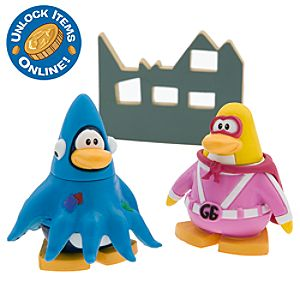 Club Penguin 2 Mix N Match Figure Pack - Gamma Gal and Squidzoid